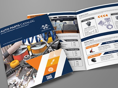 auto parts catalog bi fold brochure template vol 2 by owpictures