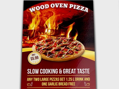 pizza restaurant flyer template by owpictures dribbble