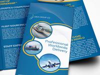 Logistics Services Tri Fold Brochure Template