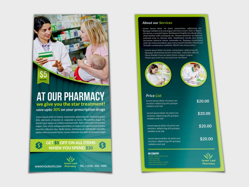 pharmacy flyer dl size template by owpictures dribbble dribbble