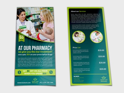 Pharmacy Flyer Dl Size Template By OWPictures Dribbble - Dl size flyer template