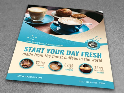 Cafe Flyer Template By Owpictures Dribbble
