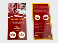 Butcher Shop Dl Flyer Template