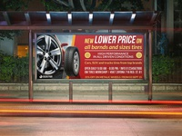 Tires Shop Billboard Template