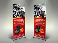 Tires Shop Signage Rollup Banner Template