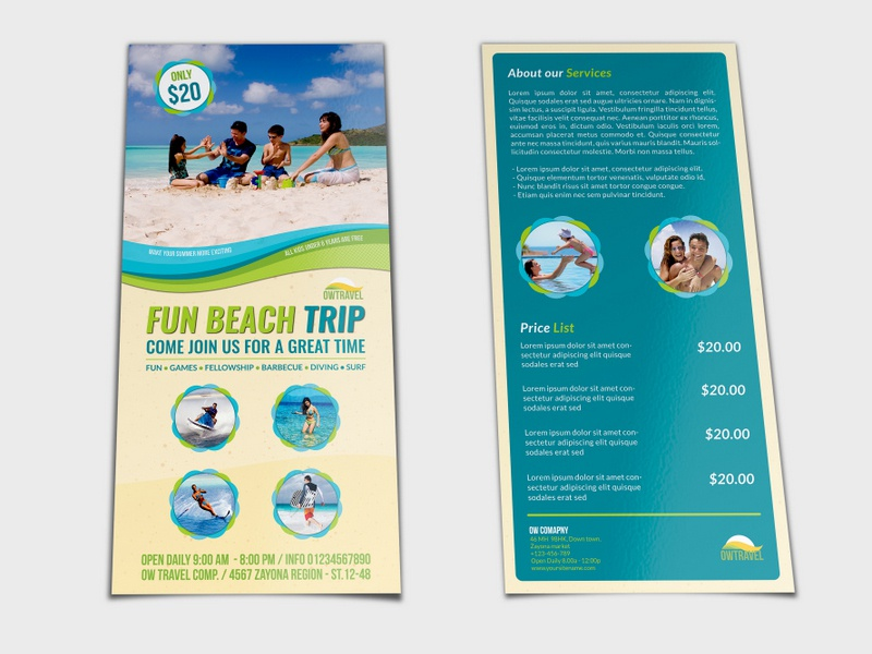 Tour And Travel Dl Size Flyer Template By Owpictures Dribbble