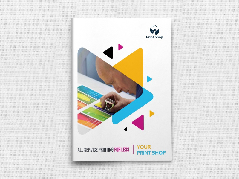 Print Shop Brochure Template print shop catalog cmyk booklet brochure print