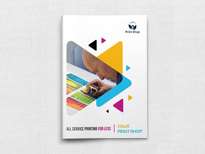 Print Shop Brochure Template print shop catalog cmyk booklet brochure print