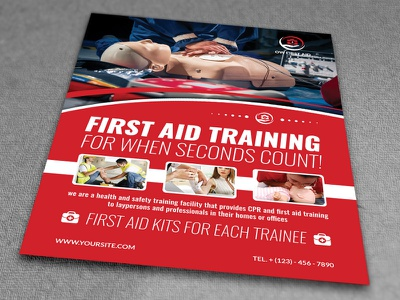 First Aid Flyer Template first aid drags patient nurse doctor hospital clinic aid