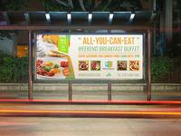 Breakfast Restaurant Billboard Template