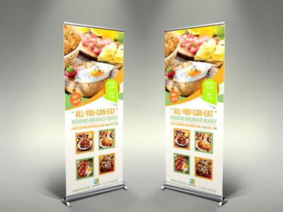 Breakfast Restaurant Signage Template
