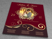 Wedding Invitation Party Flyer Template