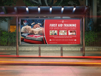 First Aid Billboard Template leaflet hospital business card hospital health centre health care health flyer first aid first doctor design creative clinic clean card business aid advertising advert ad
