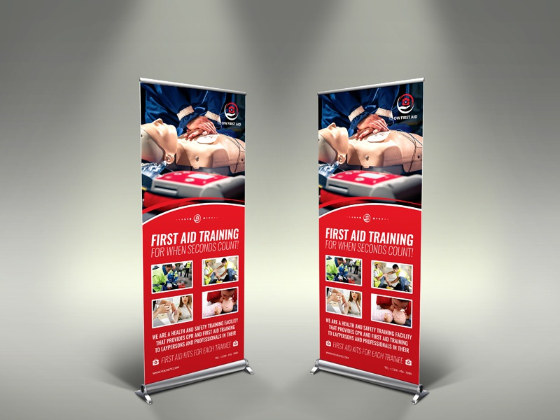 First Aid Signage Template medical flyer hospital business card hospital health centre health care health first aid first doctor design creative clinic clean card business banner aid advertising advert ad