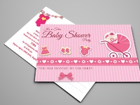 01 baby shower postcard template
