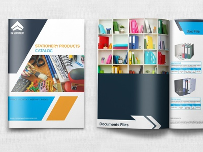 Stationery Products Catalog Brochure Template product cataloque product catalog pen parts office supply office multi purpose interior design industrial hand book design computer commerce cataloque catalog brochure booklet automotive advertisement advert