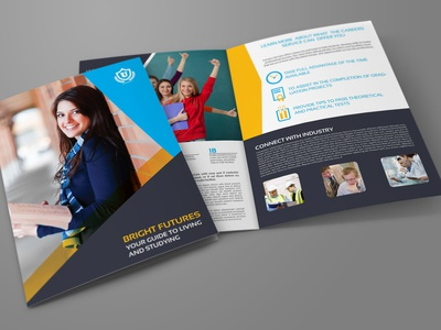 University College Bi Fold Brochure Template