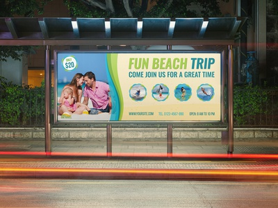 Tour And Travel Billboard Template