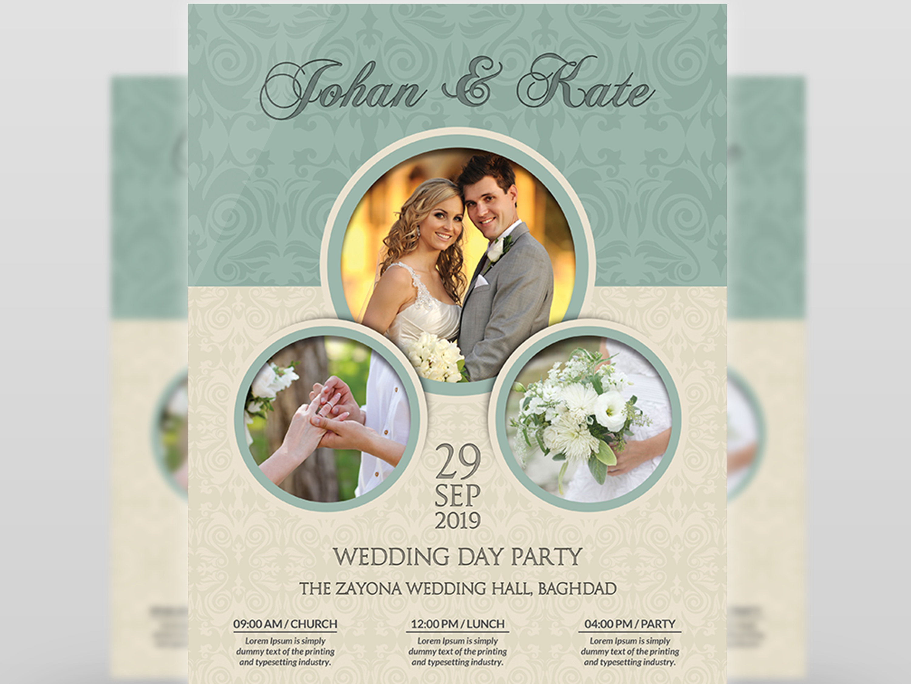 wedding flyer template by owpictures dribbble dribbble