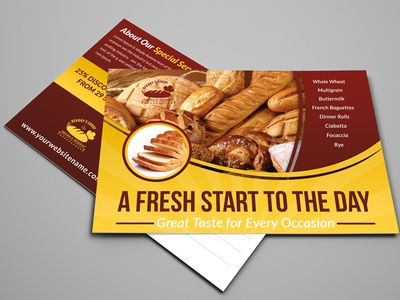 Bakery Postcard Template