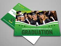 Graduation Postcard Template