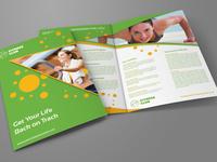 Fitness   Gym Bi Fold Brochure Template