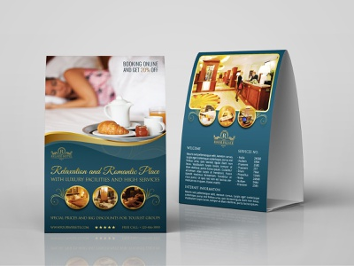 Hotel Table Tent Template suite sea room restaurant resort psd motel menu king house hotel menu hotel hospitality holiday guest executive exclusive deluxe apartment accommodation