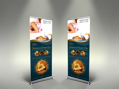 Hotel Signage Rollup Tenmplate