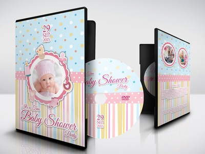 Baby Shower Party Dvd Cover Template