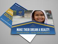 Kids Charity Postcard Design Template