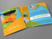 Cleaning Services Bi Fold Brochure Template