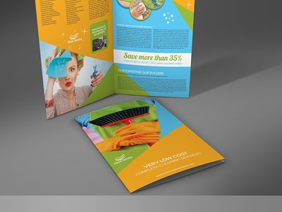 Cleaning Services Bi Fold Brochure Template sparkling clean service promotion promo maid cleaning housekeeping house cleaner home cleaning home domestic cleaning dirty work commercial cleaning cleaning services cleaning service cleaning company cleaning brochure