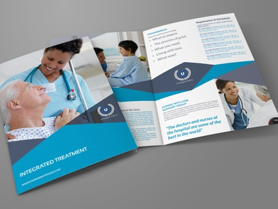 Medical Care Bi Fold Brochure Template