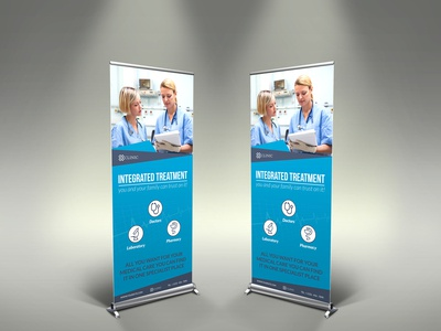 Medical Care Signage Banner Roll Up Template