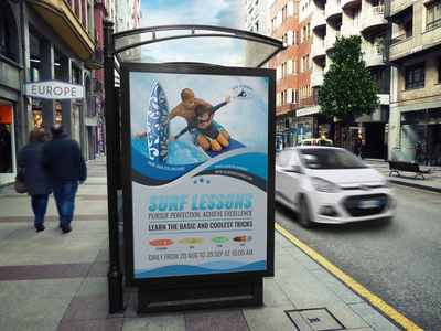 Surf Training Poster Template