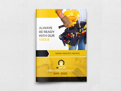 Hand Tools Products Catalog Brochure Template