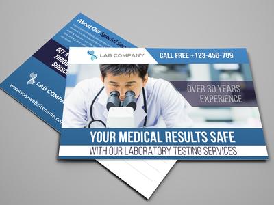 Medical Laboratory Postcard Template