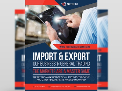 Trading Company Flyer Template