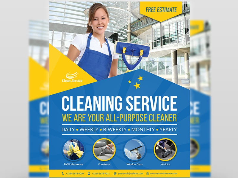 Cleaning Services Flyer Template by OWPictures on Dribbble