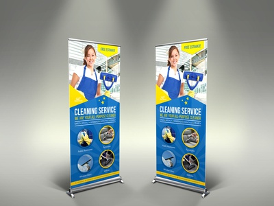 Cleaning Services Signage Template
