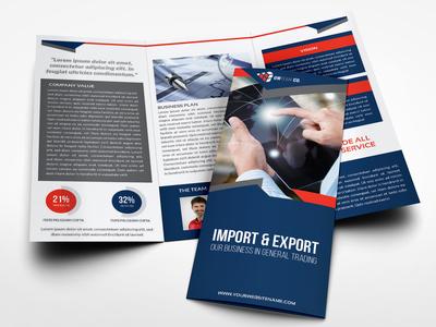 Company Profile Tri Fold Brochure Template