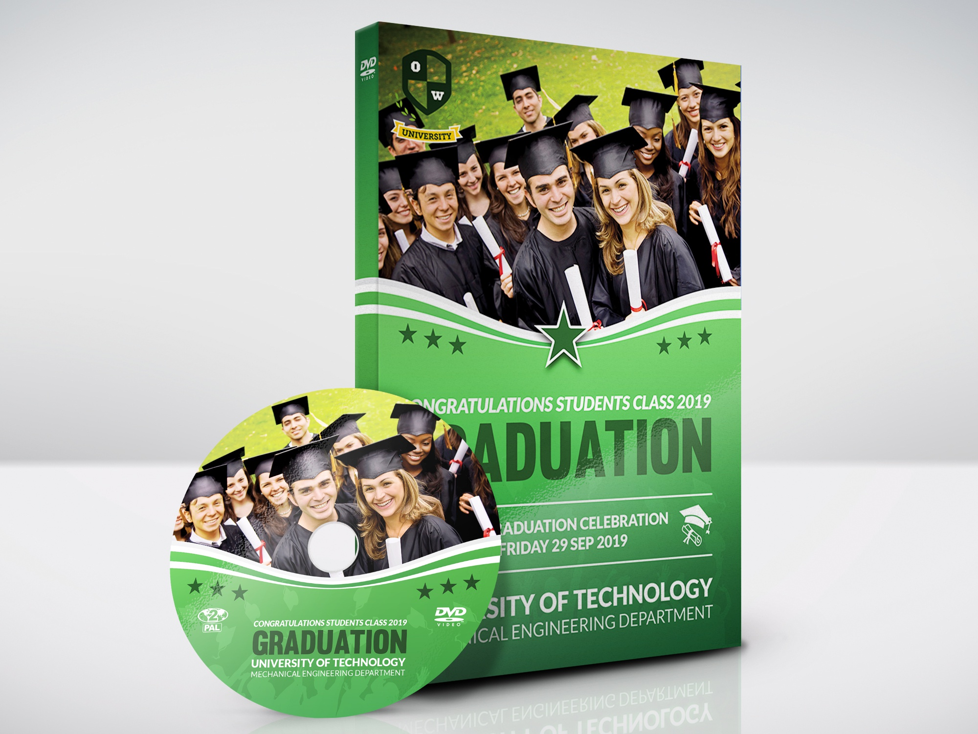 Graduation DVD Cover and Label Template by OWPictures on
