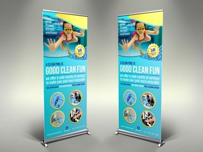 Swimming Pool Cleaning Service Signage Template