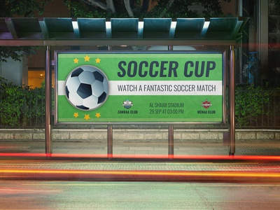 Soccer Billboard Template
