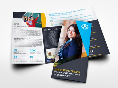 University  College Tri  Fold Brochure Template