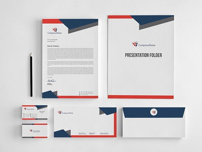 Corporate Stationery Design Template By