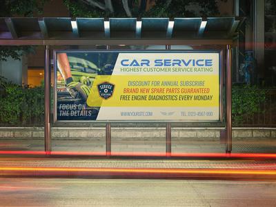 Car Service Billboard Template