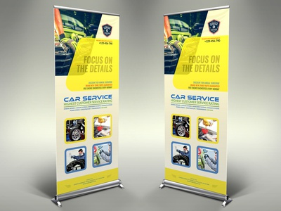 Car Service Siagnage Banner Template