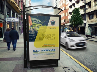 Car Services Poster Template