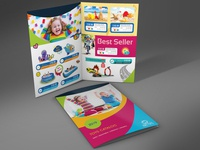 Toys Products Bi Fold Catalog Template